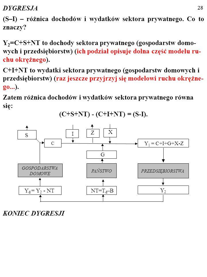(C+S+NT) - (C+I+NT) = (S-I).