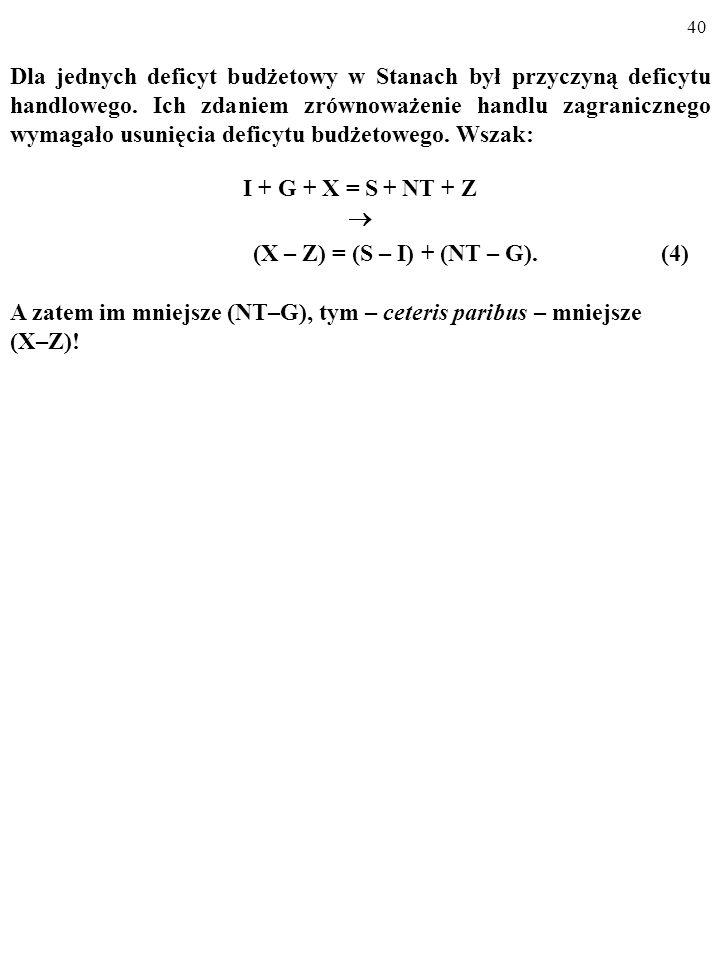 (X – Z) = (S – I) + (NT – G). (4)
