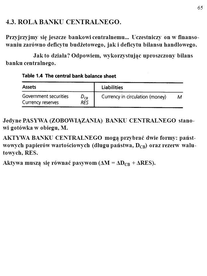 4.3. ROLA BANKU CENTRALNEGO.