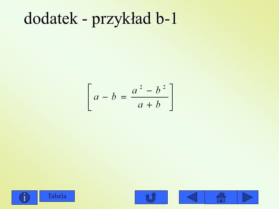 dodatek - przykład b-1 Tabela