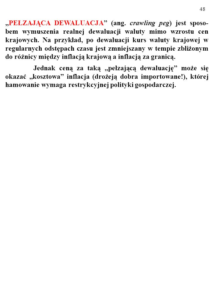 """""""PEŁZAJĄCA DEWALUACJA (ang"""