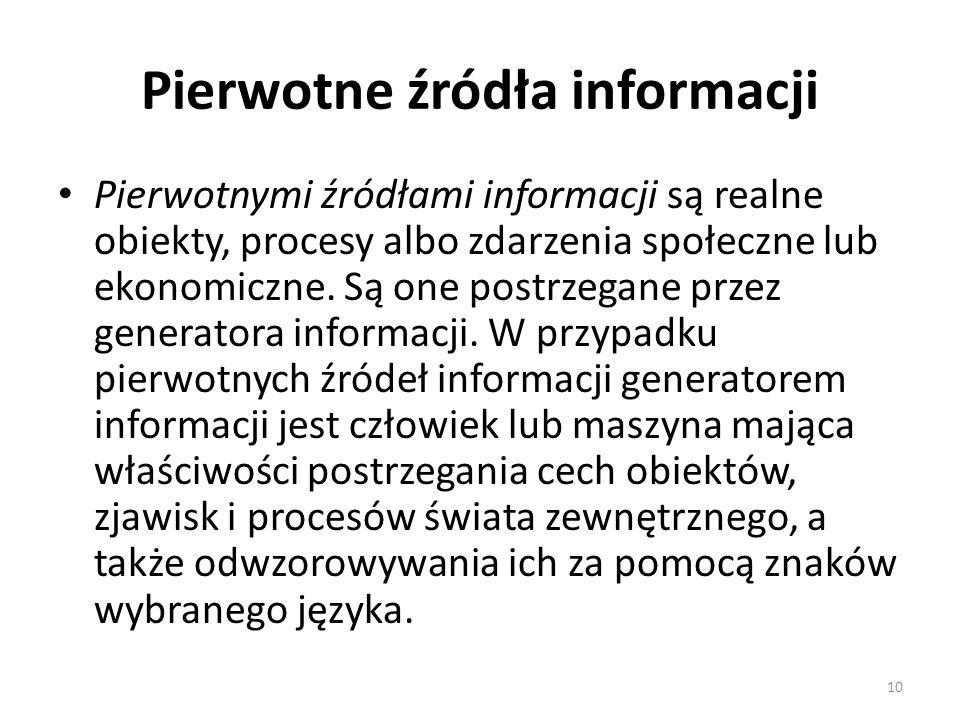 Pierwotne źródła informacji