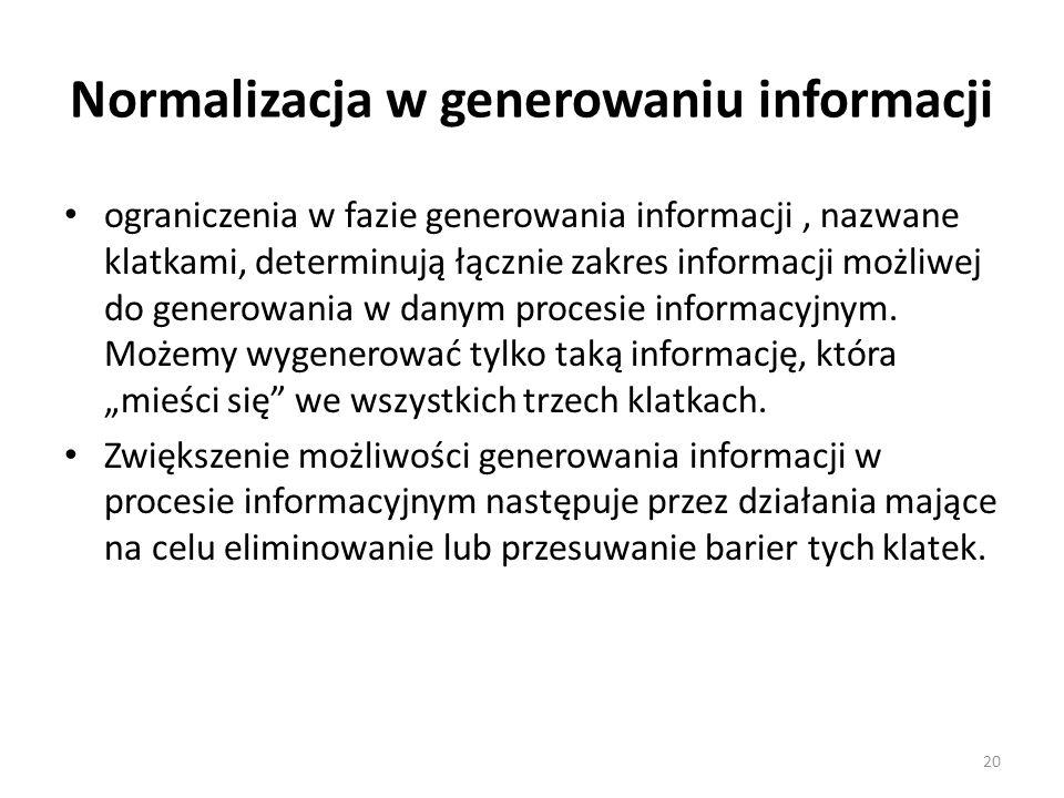 Normalizacja w generowaniu informacji