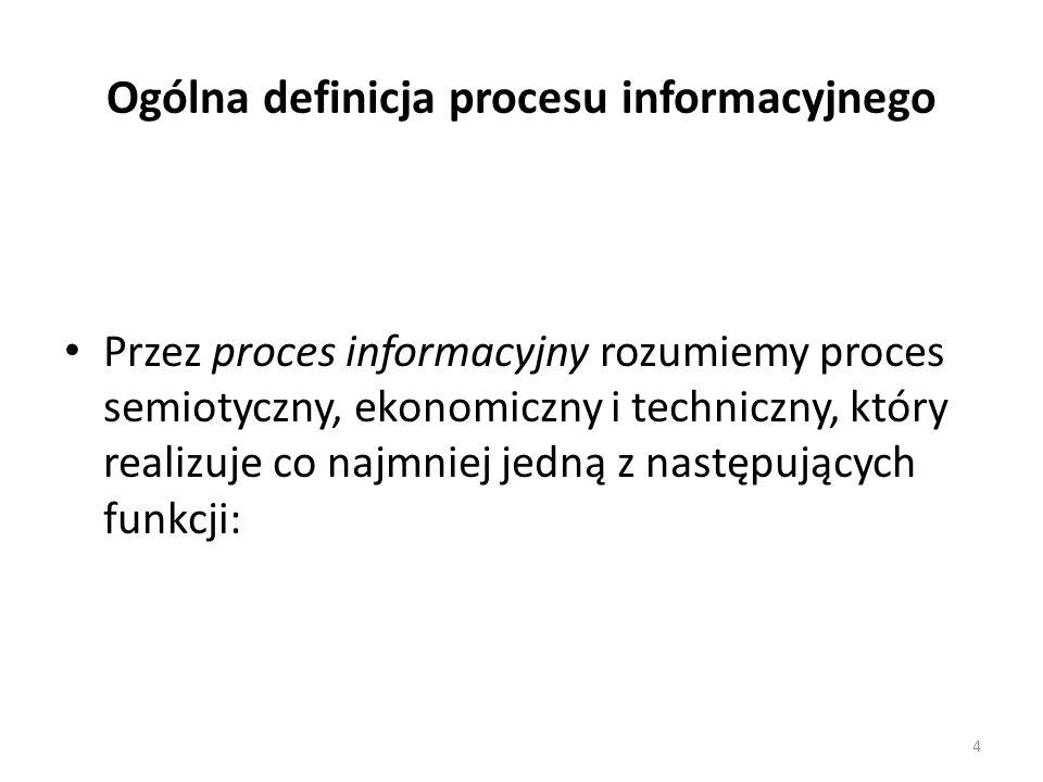 Ogólna definicja procesu informacyjnego