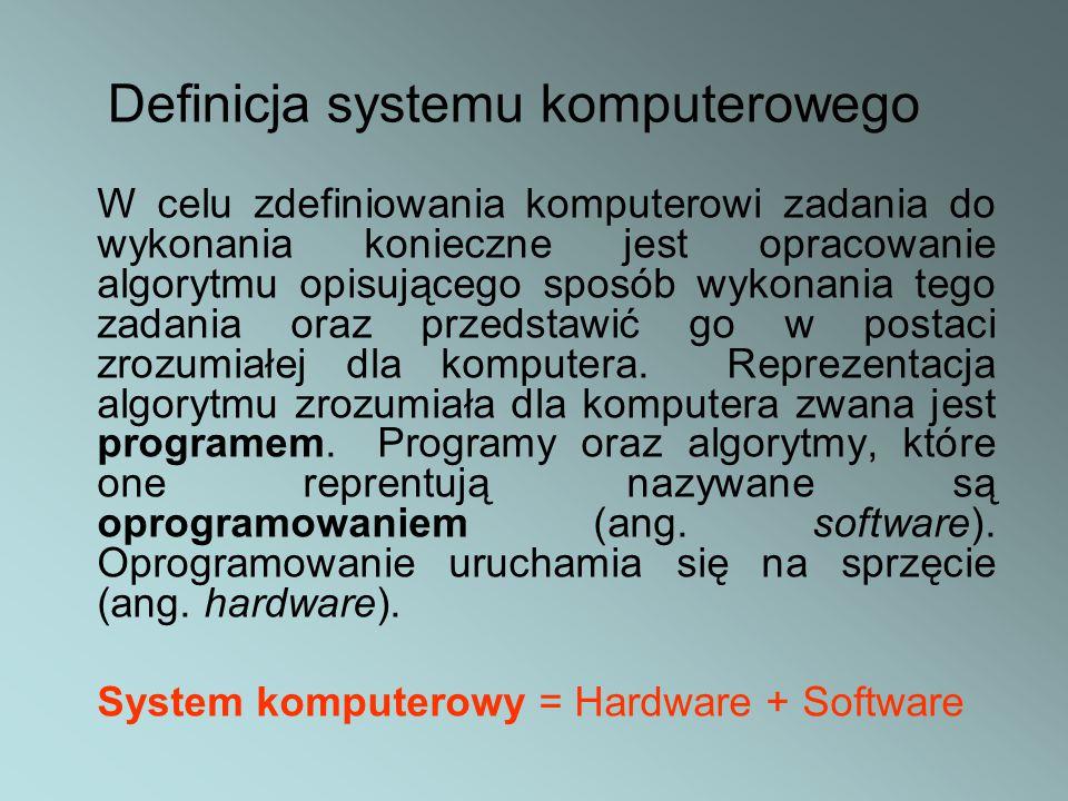Definicja systemu komputerowego