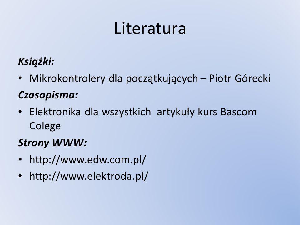 Literatura Książki: Mikrokontrolery dla początkujących – Piotr Górecki