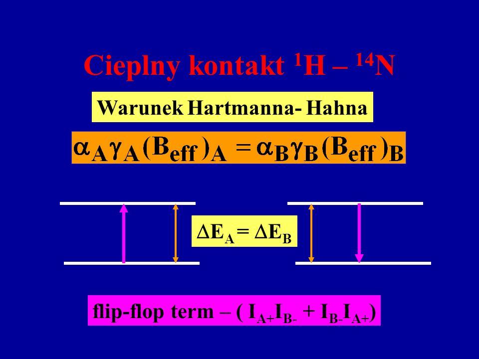 Warunek Hartmanna- Hahna flip-flop term – ( IA+IB- + IB-IA+)