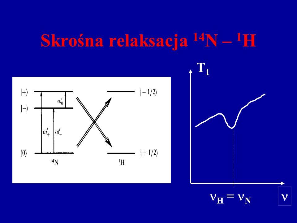 Skrośna relaksacja 14N – 1H
