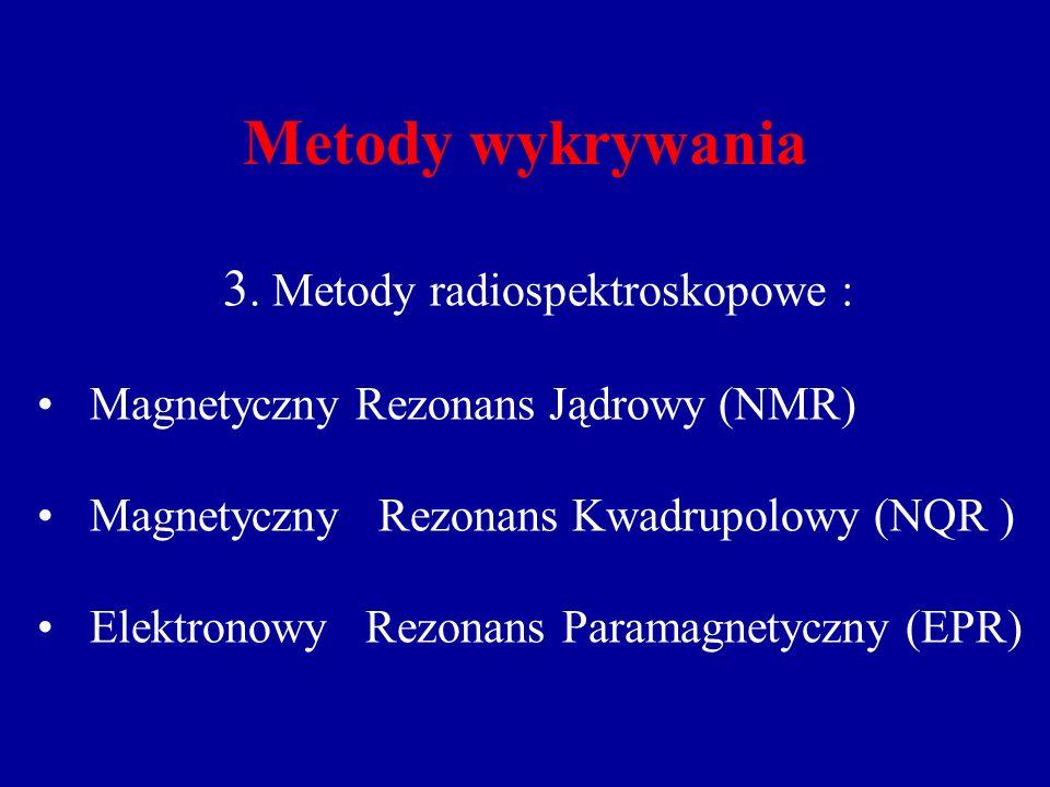 3. Metody radiospektroskopowe :