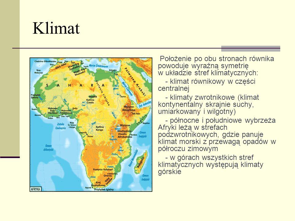 Klimat · - klimat równikowy w części centralnej