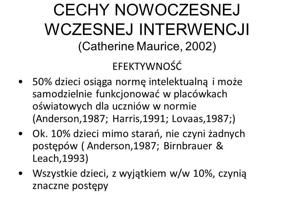 CECHY NOWOCZESNEJ WCZESNEJ INTERWENCJI (Catherine Maurice, 2002)