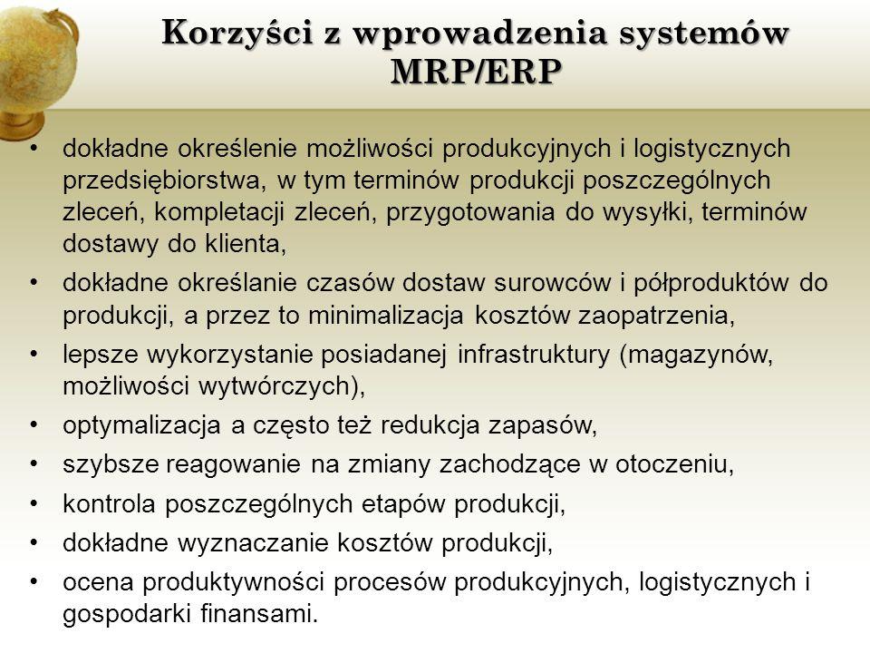 Korzyści z wprowadzenia systemów MRP/ERP