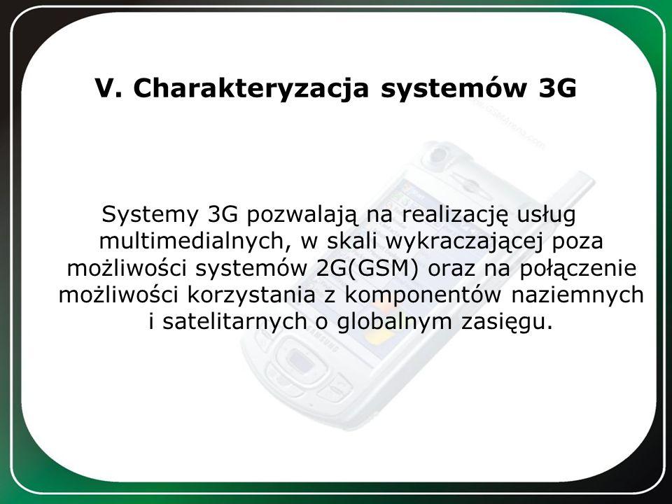 V. Charakteryzacja systemów 3G