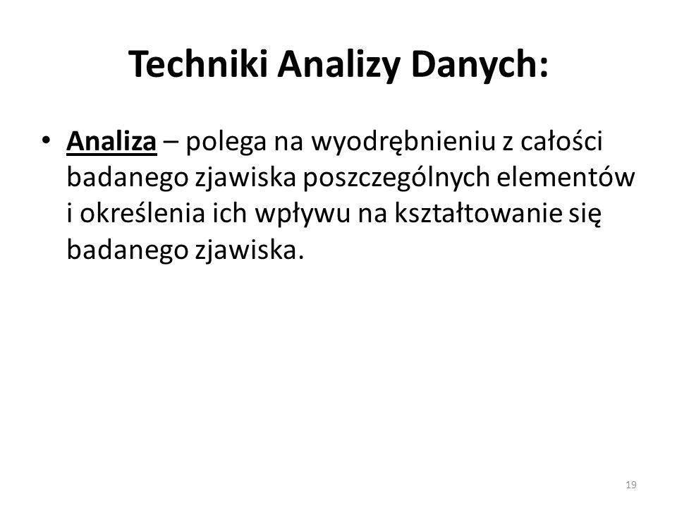 Techniki Analizy Danych: