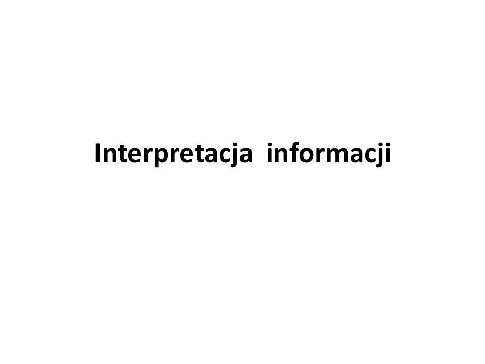 Interpretacja informacji