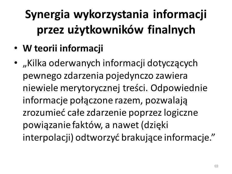 Synergia wykorzystania informacji przez użytkowników finalnych
