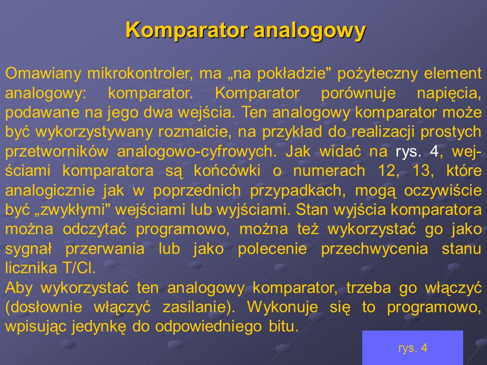 Komparator analogowy