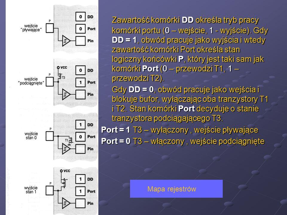 Port = 1 T3 – wyłączony , wejście pływające