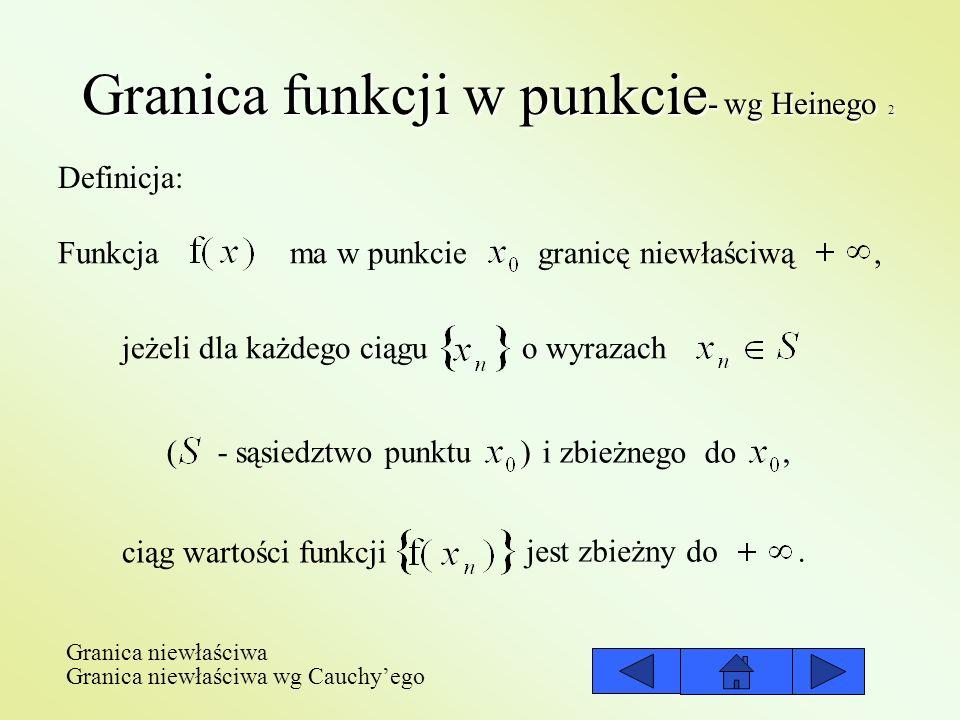 Granica funkcji w punkcie- wg Heinego 2