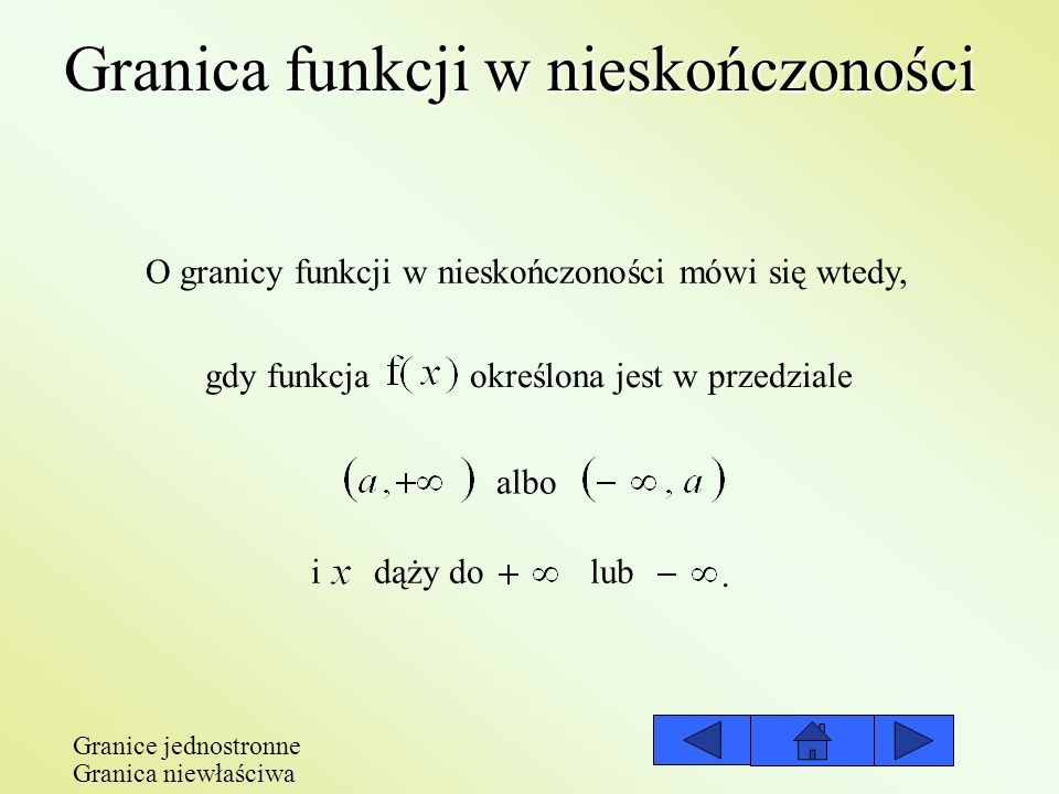 Granica funkcji w nieskończoności