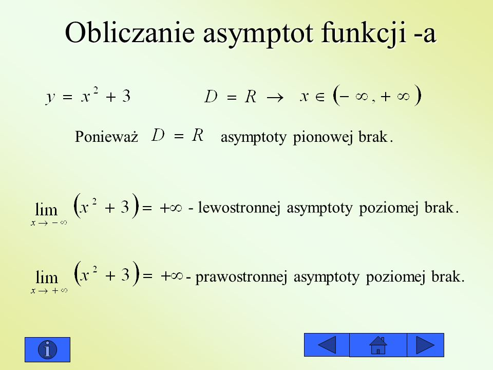 Obliczanie asymptot funkcji -a