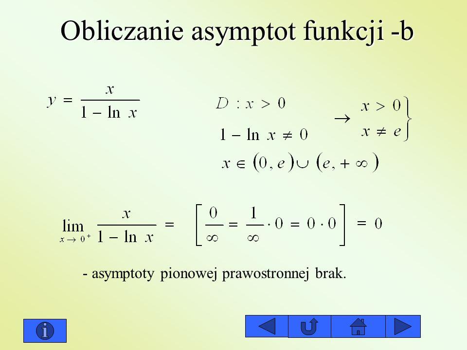 Obliczanie asymptot funkcji -b