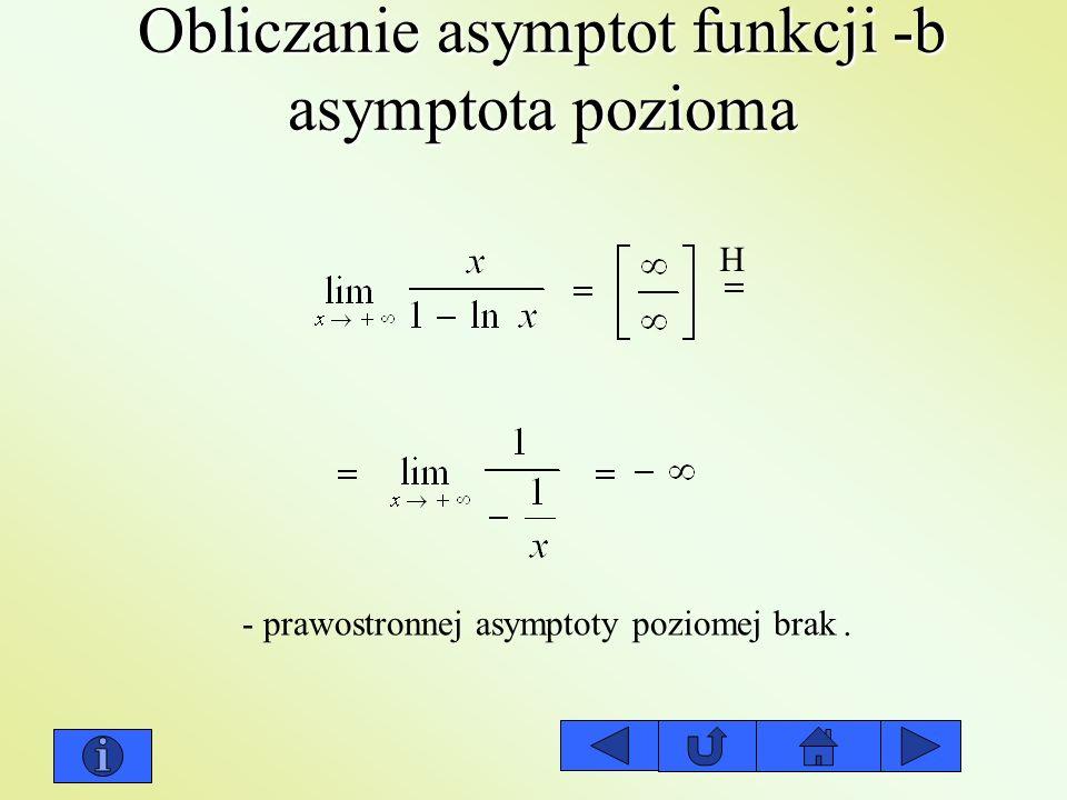 Obliczanie asymptot funkcji -b asymptota pozioma