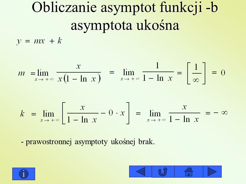 Obliczanie asymptot funkcji -b asymptota ukośna