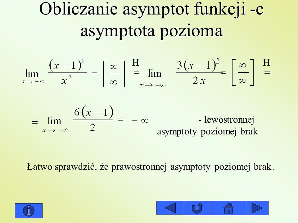Obliczanie asymptot funkcji -c asymptota pozioma