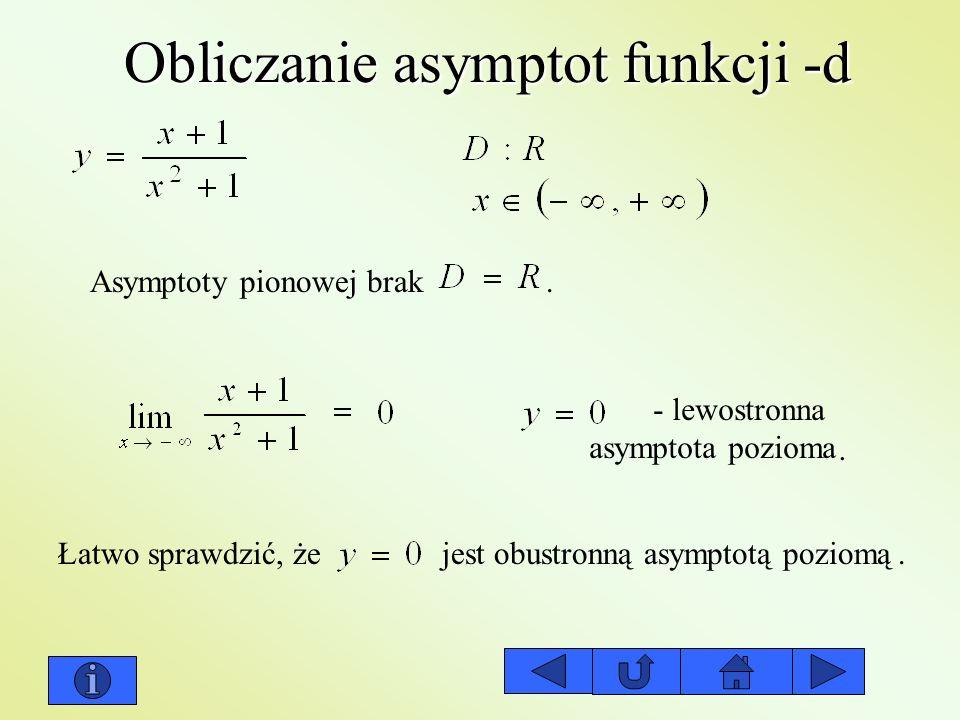 Obliczanie asymptot funkcji -d