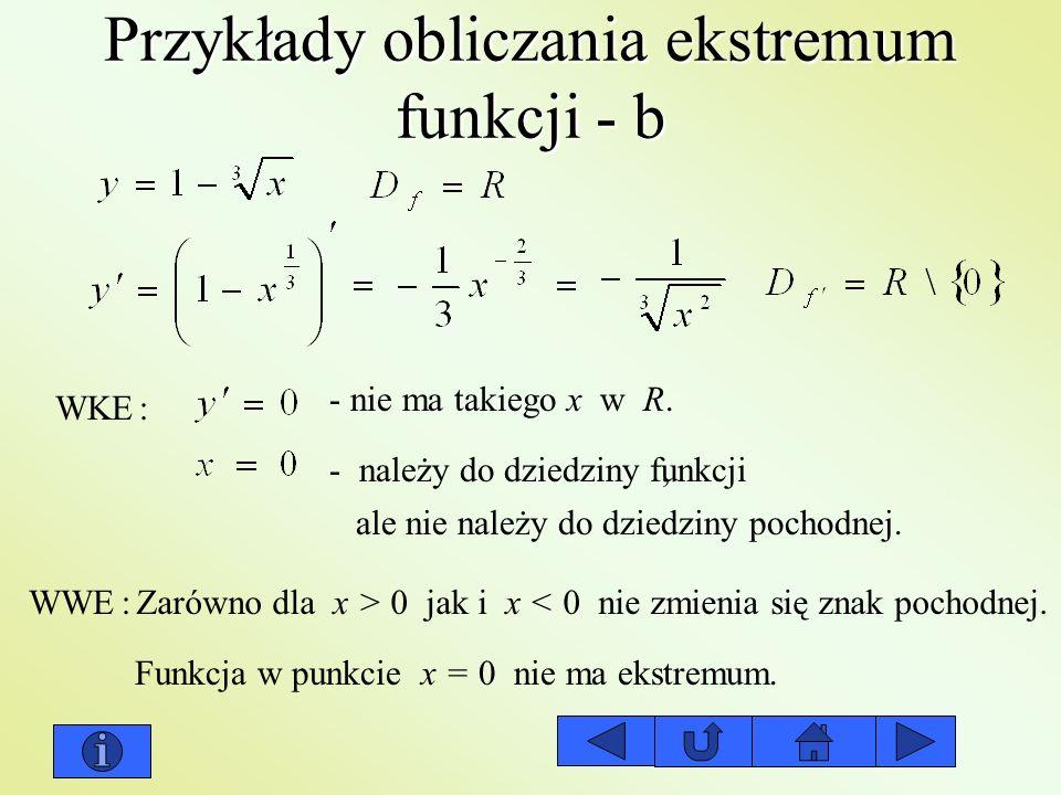 Przykłady obliczania ekstremum funkcji - b