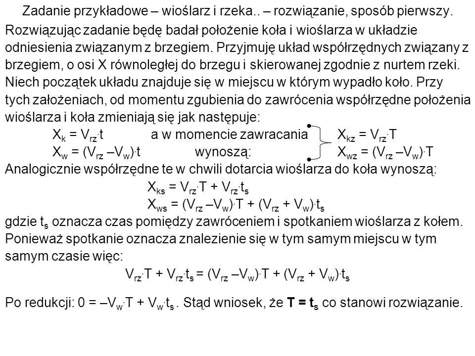 Vrz.T + Vrz.ts = (Vrz –Vw).T + (Vrz + Vw).ts