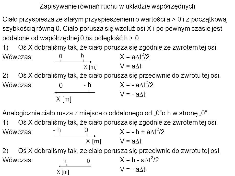 Zapisywanie równań ruchu w układzie współrzędnych