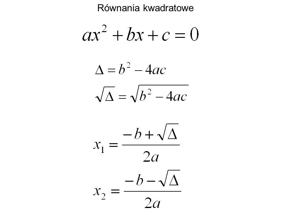 Równania kwadratowe