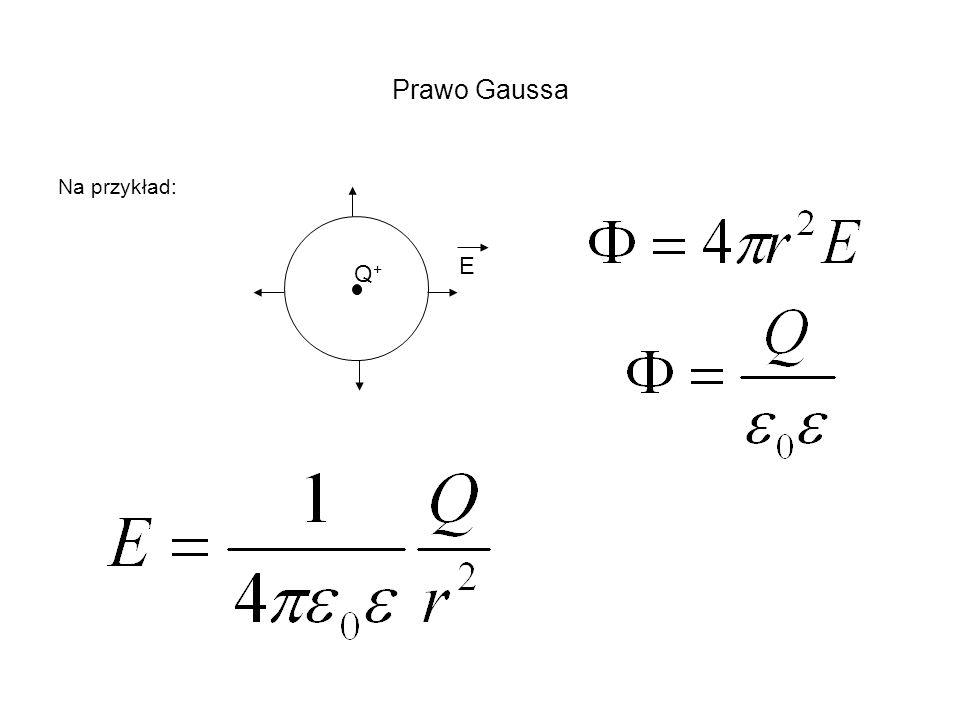 Prawo Gaussa Na przykład: E Q+