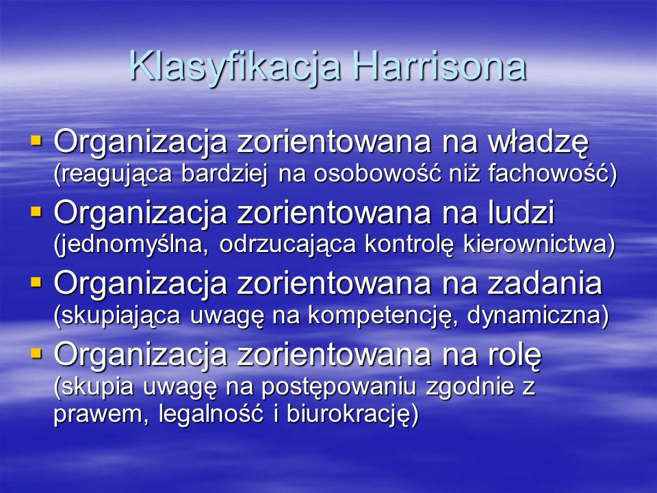 Klasyfikacja Harrisona