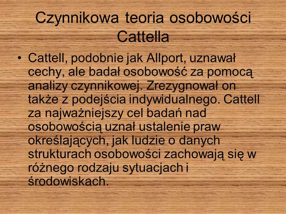 Czynnikowa teoria osobowości Cattella