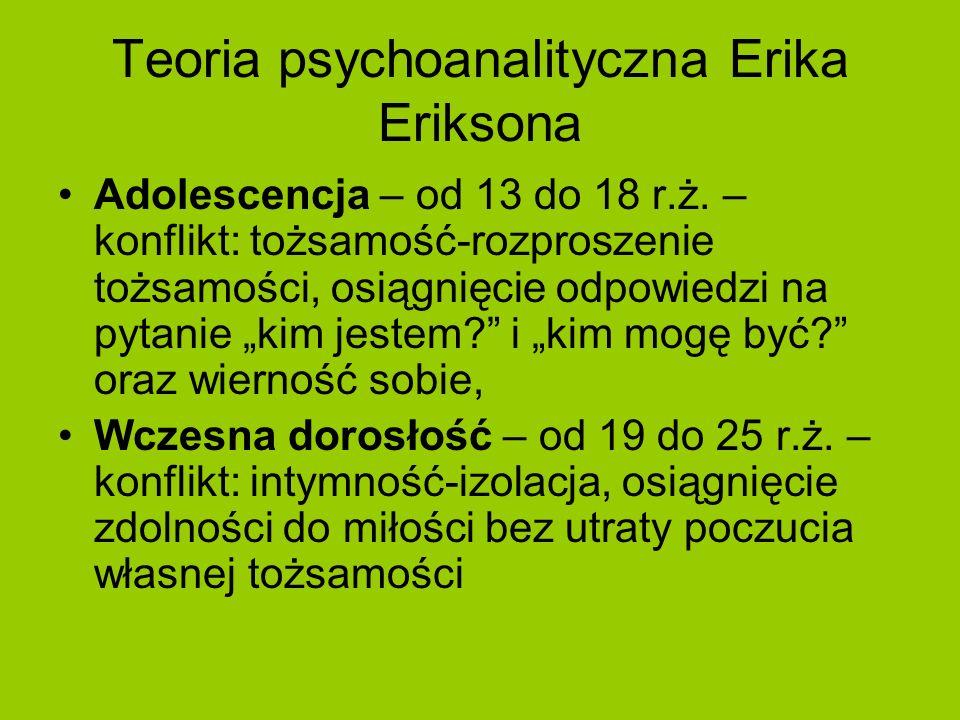 Teoria psychoanalityczna Erika Eriksona