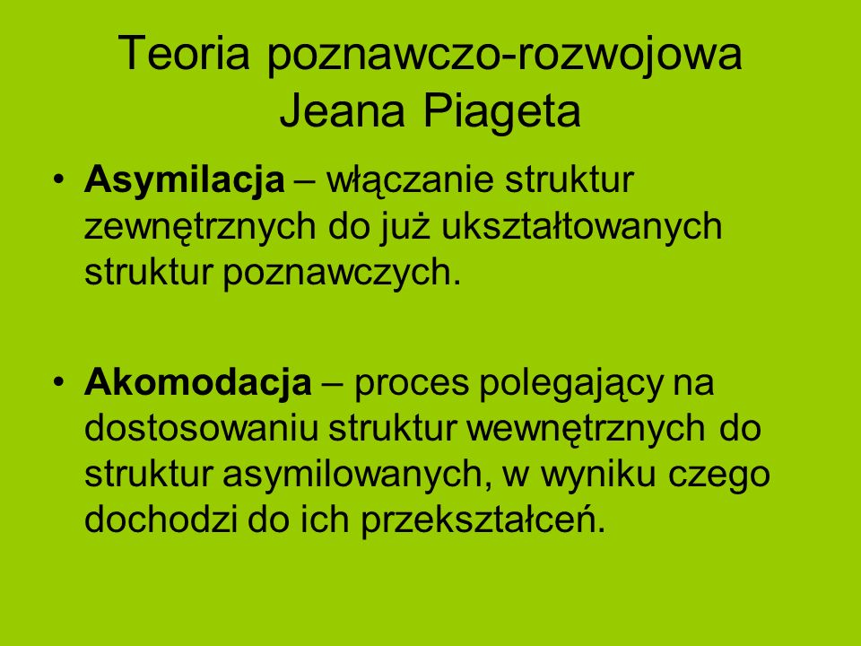 Teoria poznawczo-rozwojowa Jeana Piageta