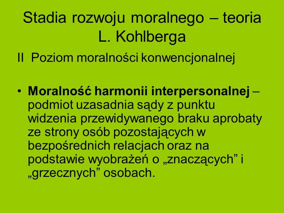 Stadia rozwoju moralnego – teoria L. Kohlberga