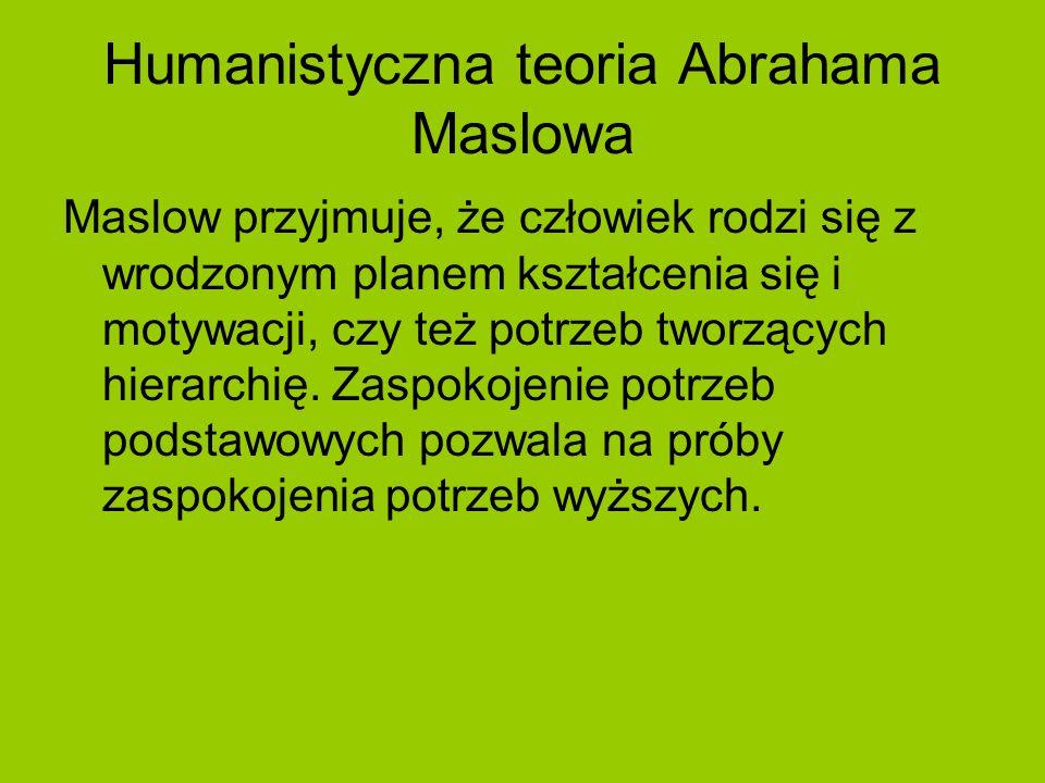 Humanistyczna teoria Abrahama Maslowa