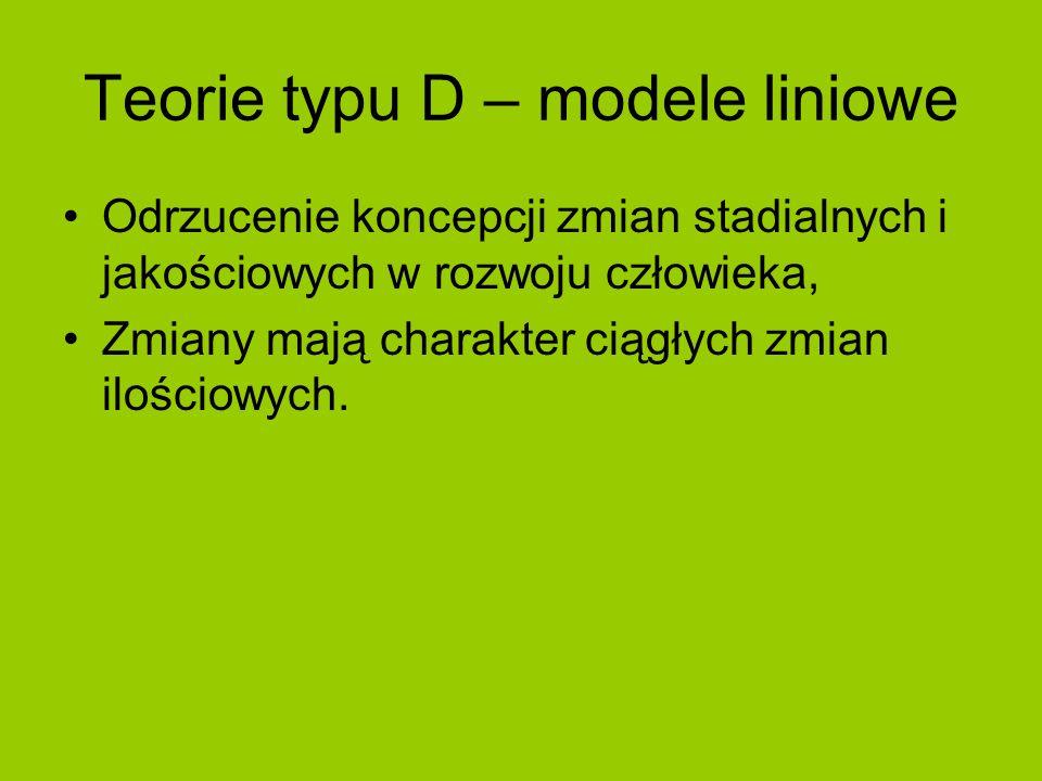 Teorie typu D – modele liniowe