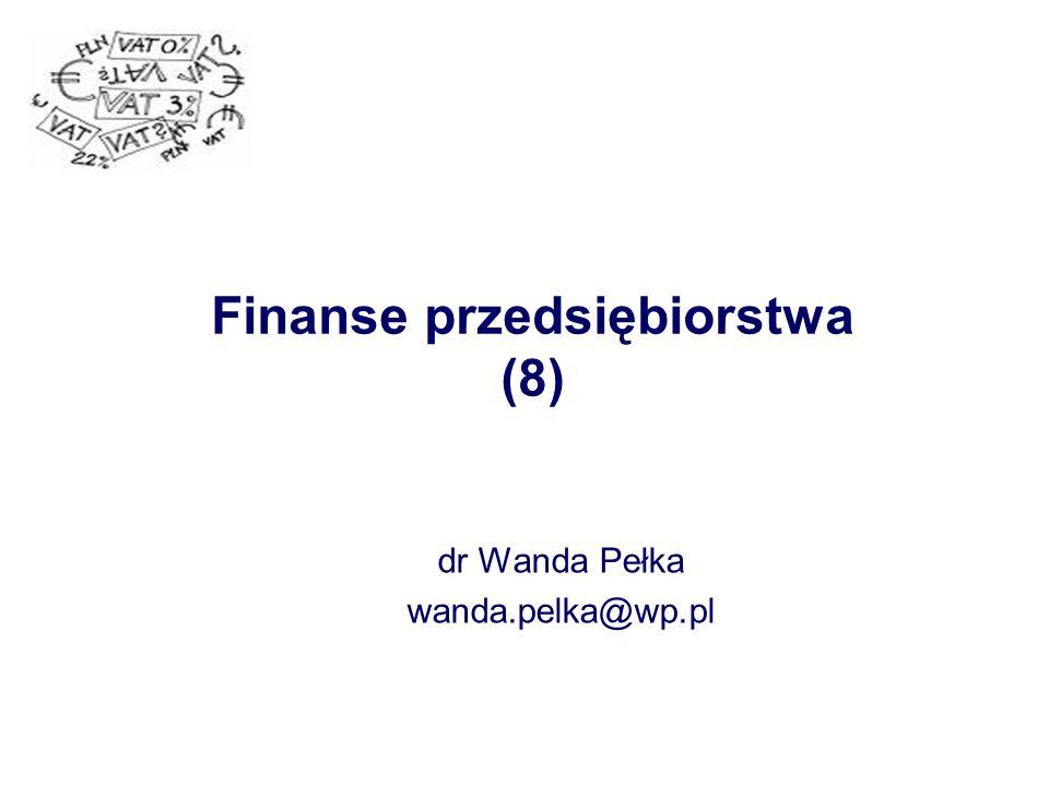 Finanse przedsiębiorstwa (8)