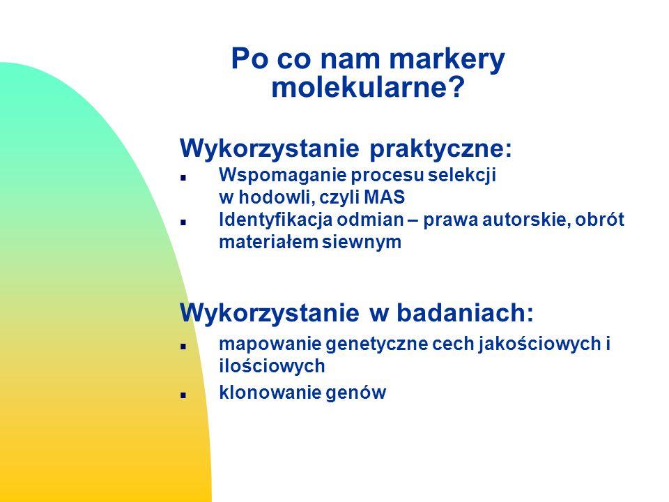 Po co nam markery molekularne