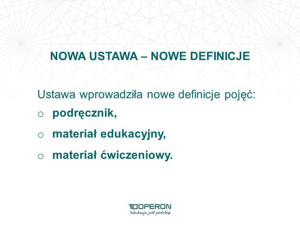 NOWA USTAWA – NOWE DEFINICJE