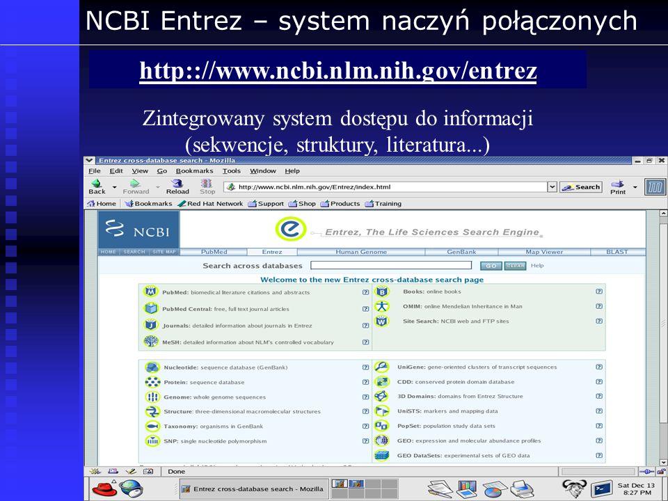NCBI Entrez – system naczyń połączonych