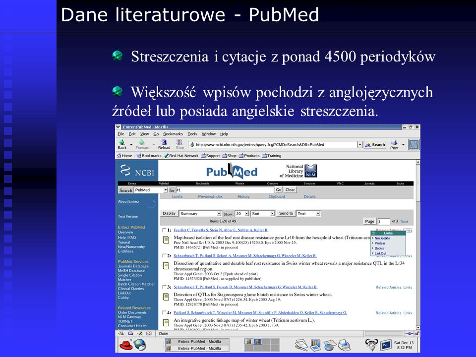 Dane literaturowe - PubMed