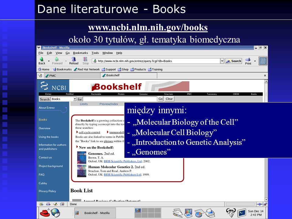 Dane literaturowe - Books