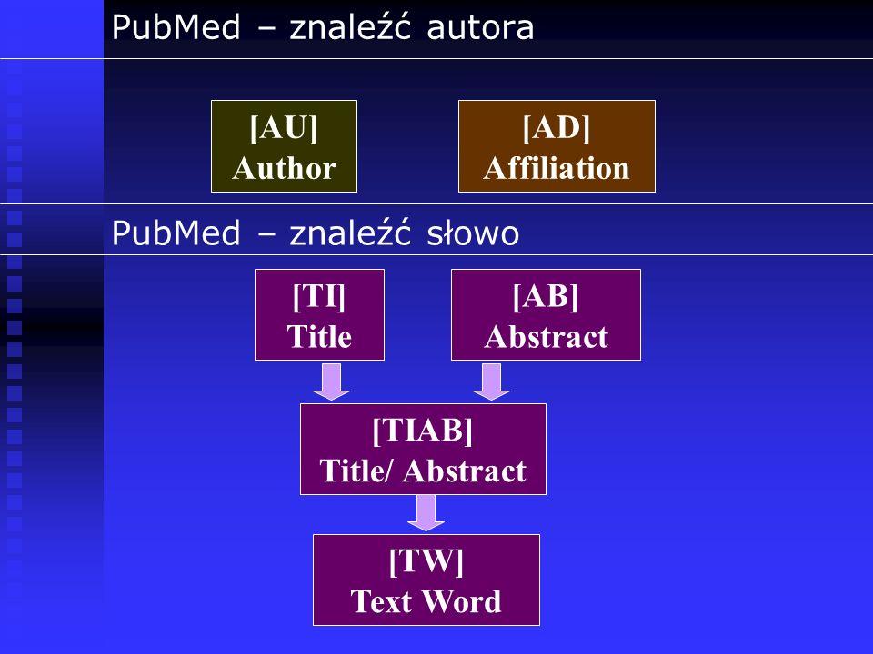 PubMed – znaleźć autora