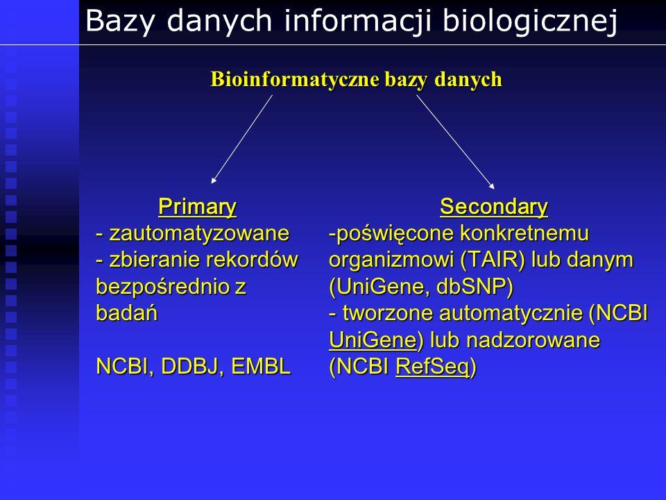 Bazy danych informacji biologicznej